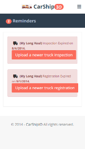 Get reminders on what matters, trucks, drivers, invoices due, late payment reminders
